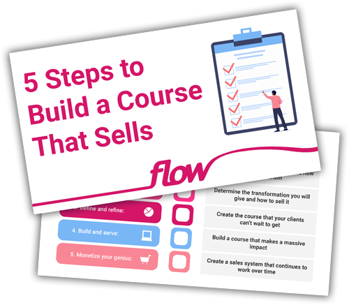 Image showing 5 Steps to Build a Course That Sells Checklist